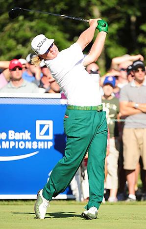 Charley Hoffman rang up 11 birdies in his final round at the Deutsche Bank Championship.