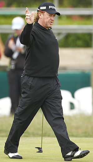 Miguel Angel Jimenez shot a bogey-free 66 in Round 1 at Royal St. George's.