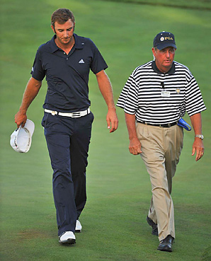Dustin Johnson was penalized two strokes on the 72nd hole at the 2010 PGA for grounding his club in a hazard, which knocked him out of a sudden-death playoff.