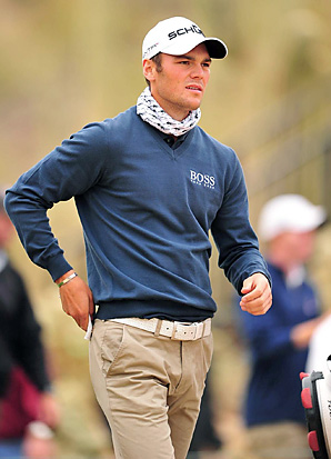 "Martin Kaymer wore a ""Black Fly Buff"" on Saturday at the Accenture Match Play."