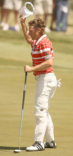 Bernhard Langer took advantage of an early tee time with an opening 66.