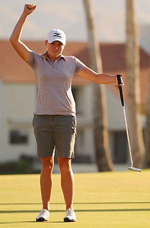 Stacy Lewis won her first major -- and first LPGA event -- at the Kraft Nabisco.