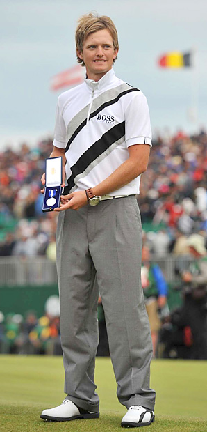 Tom Lewis won the silver medal for low amateur at the Open Championship.