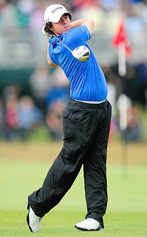 Rory McIlroy's back-nine 30 tied a record at the British Open.
