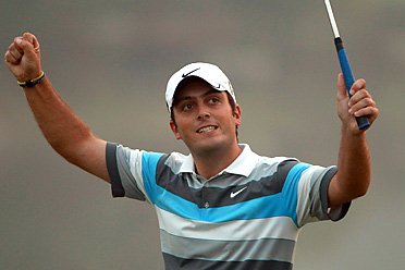 Francesco Molinari held off Lee Westwood to win the HSBC Champions by one shot.