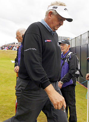 Colin Montgomerie failed to qualify for the Open Championship.