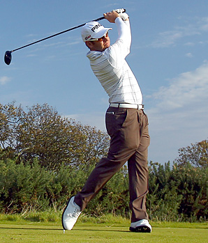 Louis Oosthuizen shot a 6-under 66 on Thursday at Kingsbarns.