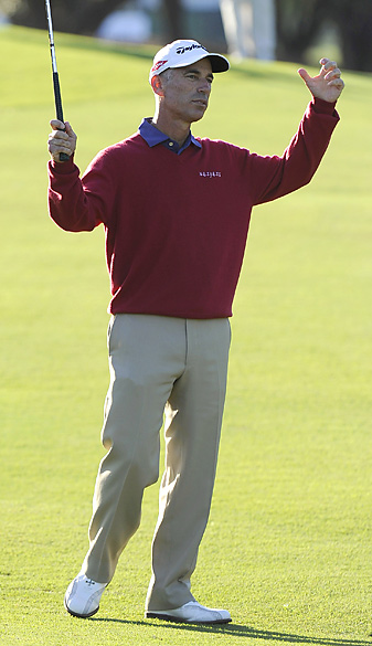 Corey Pavin won the Allianz Championship on the first hole of sudden death.