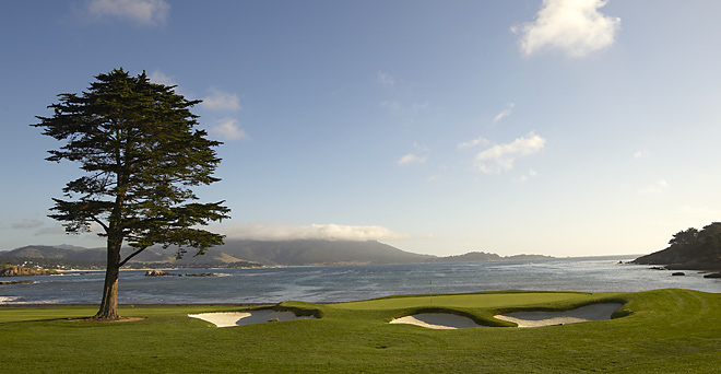 The famed 18th hole at Pebble Beach.