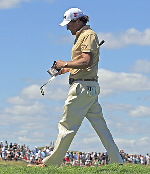 Phil Mickelson finished the PGA Championship at six under par.