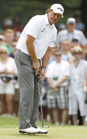 Phil Mickelson shot and even-par 71 on Sunday.