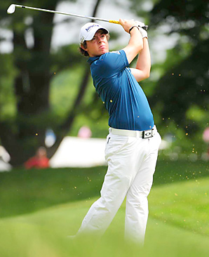 Rory McIlroy's 65 was the lowest round of the day by three strokes.