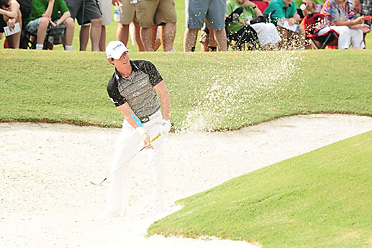 Rory McIlroy and the rest of the field have contended with difficult bunkers all week at the PGA.