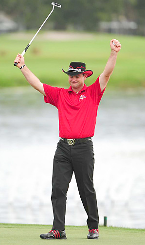 Rory Sabbatini shot an even par 70 to win the Honda Classic by one over Y.E. Yang.