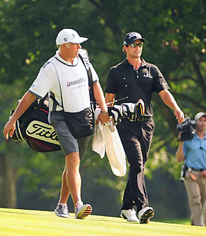 Steve Williams and Adam Scott teamed up and won the Bridgestone Invitational by four shots.