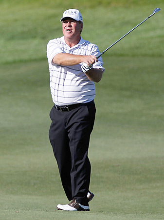 Hal Sutton, 54, plays on the Champions Tour these days.