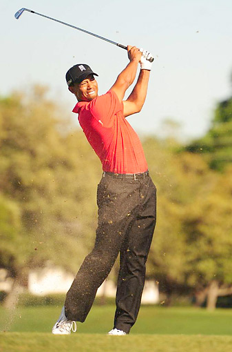 If Woods (pictured during his win at Bay Hill) is going to get to 18, he will be particularly dependent on the courses where he has already won, such as Augusta National.