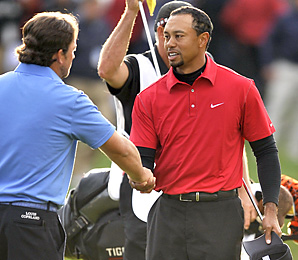 Tiger Woods lost to Graeme McDowell in a playoff at the Chevron World Challenge.