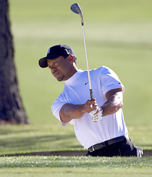 """Tiger Woods Woods said last Tuesday he would skip this week's British Open because of """"minor injuries"""" to his left leg that haven't fully healed."""