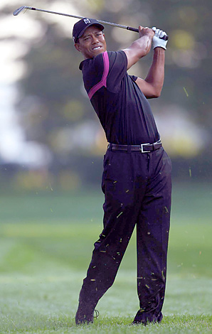 Tiger Woods needs at least a tie for fifth place this week to advance in the FedEx Playoffs.