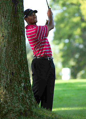 Tiger Woods tied for 78th place at Firestone, the highest finish of his PGA Tour career.