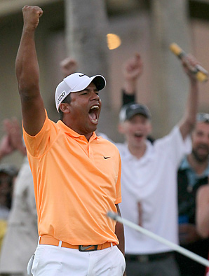 In just his fifth PGA Tour start, Jhonattan Vegas won the Bob Hope Classic.