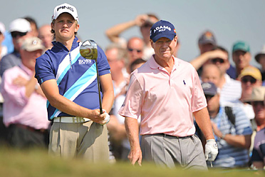 Tom Lewis shot a 74, while Tom Watson fired an even-par 70 on Friday.