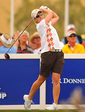 Karrie Webb rallied in the final round to win the inaugural Founders Cup.