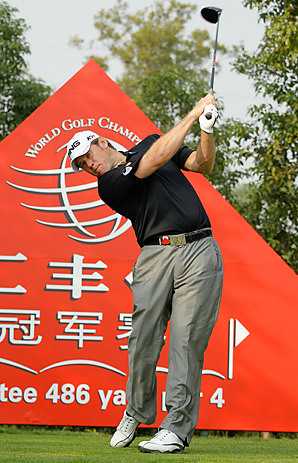 In his first event as the No. 1 player in the world, Lee Westwood finished in second place behind Francesco Molinari.