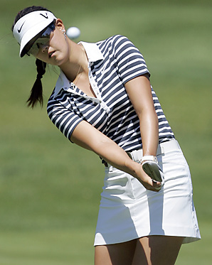 Michelle Wie defeated Stacy Prammanasudh 2-up after a conceded birdie putt on the 18th hole.