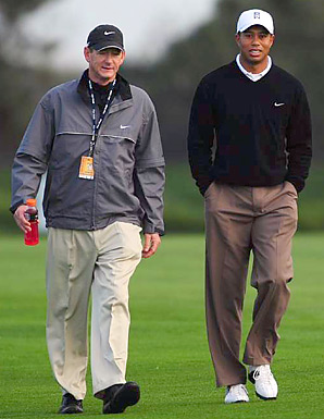 Hank Haney and Tiger Woods (shown here in 2008) worked together for more than six years.