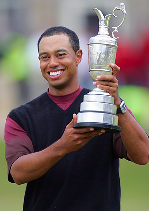 Tiger Woods won the British Open in 2005, the last time the event was held in St. Andrews.