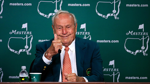 Arnold Palmer during his Masters press conference.
