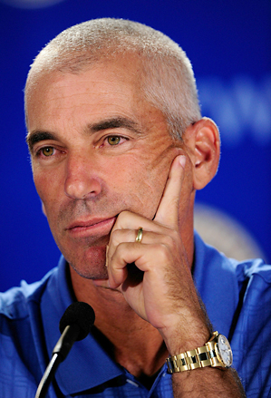 Corey Pavin at Wednesday's Ryder Cup press conference.