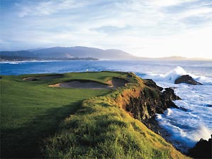 """The 7th hole at Pebble is indisputably the most beautiful 106 yards in golf. <span class=""""picturesource"""">Joann Dost</span>"""