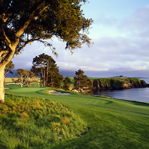 One of the world's greatest par 3s: No. 5 at Pebble Beach Golf Links.