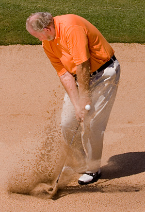 The rules for escaping sand don't apply when your ball is buried.