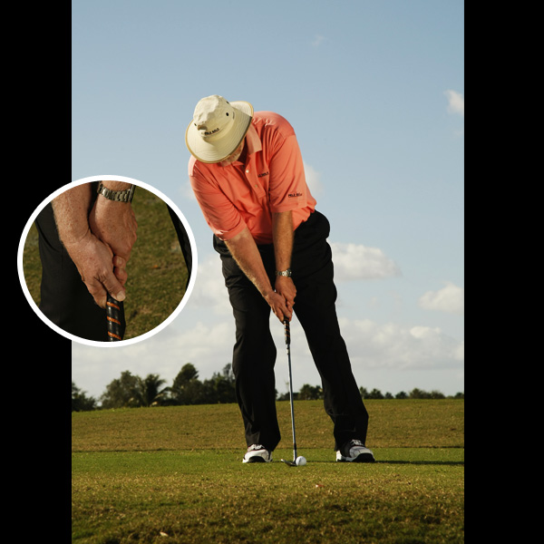 <p>                 <strong>KEEP YOUR HANDS AHEAD OF THE CLUBHEAD AT IMPACT</strong><br />                 This helps you strike the ball cleanly in the center of the clubface with minimal grass interference.                 </p><p>                 <strong>NO</strong> When your wrists break down before impact, your contact — and ability to spin the ball — suffer.                 </p>