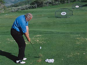 """Hit wede shots at practice targets the watch your results closely to see what works. <span class=""""picturesource"""">Leonard Kansler</span>"""