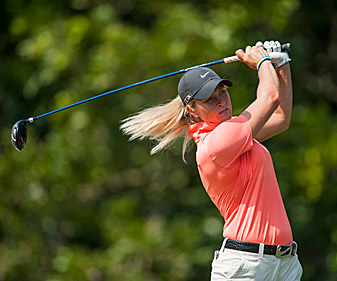 Suzann Pettersen shot a 65 to tie for the lead.