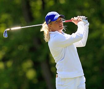 Suzann Pettersen lost 3 and 1 to Jodi Ewart.