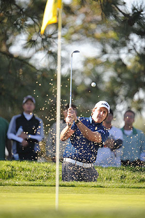 Mickelson played the Ping Eye2 wedges during the Farmers Insurance Open last week.