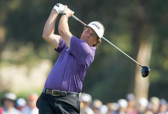 Phil Mickelson made two birdies and one bogey.
