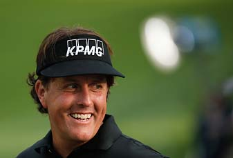 """""""If I can play as well as I can at the same time Tiger is doing the same, I would love that opportunity,"""" Phil Mickelson said at the PGA Championship on Tuesday."""