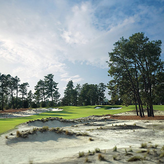 Pinehurst No. 2 was recently renovated by Bill Coore and Ben Crenshaw.
