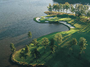 The 11th hole at Nicklaus' Great Waters course.