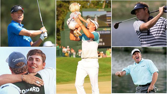 When they won: K.J. Choi (2011), Henrik Stenson (2009), Raymond Floyd (1981), Fred Funk (2005) and Justin Leonard (1998)