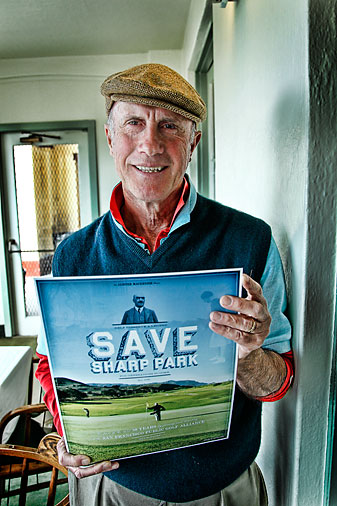 Richard Harris, of the San Francisco Public Golf Alliance, is fighting to save Sharp Park.