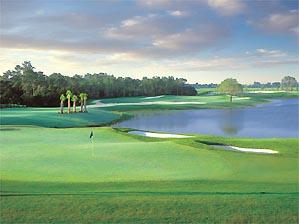 The 4th green at Fazio's latest course in Florida.