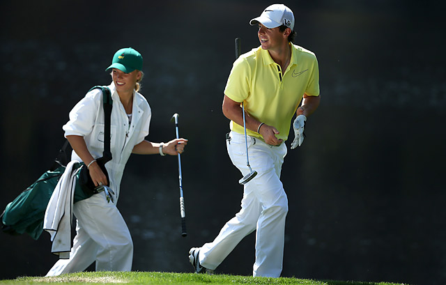 Rory McIlroy and Caroline Wozniacki enjoyed the day at the Masters Par Contest.